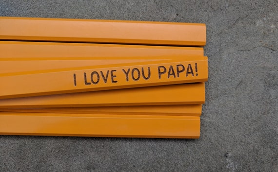 Carpenters Construction Plumbers Tradesman Pencils Unique Fathers Day Gift Stocking Stuffer For Him I Love You Dad!