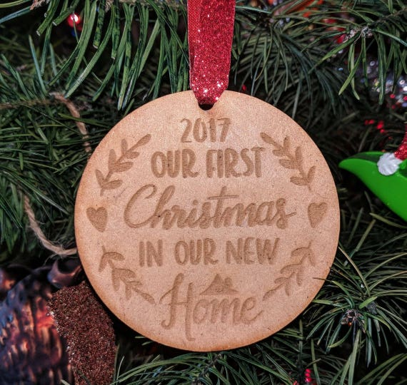 First Christmas In Our New Home 2019.Personalized Our 1st First Christmas In Our New Home 2019 Ornament Wood Unique Holiday Wedding Homeowners Gift