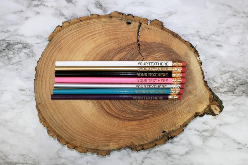 Cute Unique Pencil Motivational Writing Tools Office Supplies Custom Text Order