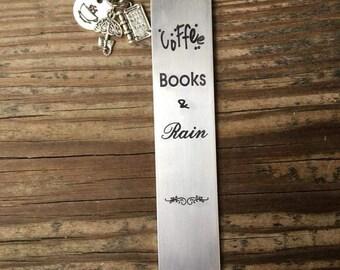 Coffee Books and Rain bookmark