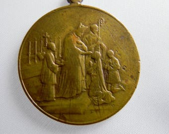 Old Religious medal commemoration of the Holy Confirmation 1913