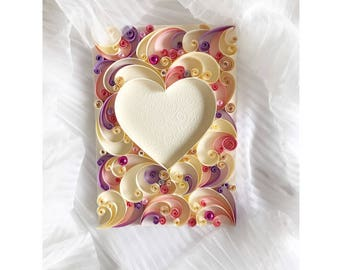 Quilling Heart Card Etsy