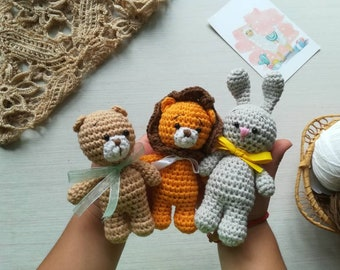 Stuffed zoo animal as little toy for child, little soft toys as mini kids gift