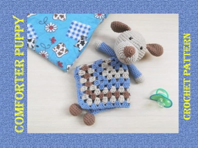 Crochet pattern comfoter Puppy, Pattern first toy, Crochet comforter Dog,  Crochet toy for baby, Lovely Blanket PDF Crochet Pattern