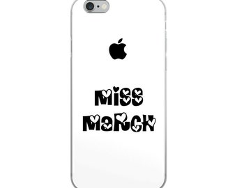 Miss March iPhone Case [US MADE] - iphone 7 case - iphone 7 plus case - iphone 6 case - iphone 6s case - iphone 8 case - iphone 6 plus case