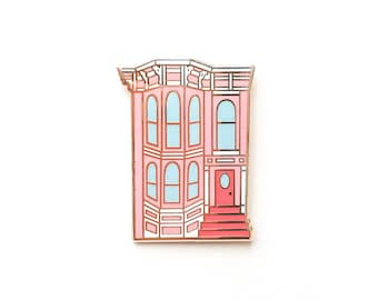 San Francisco House Enamel Pin