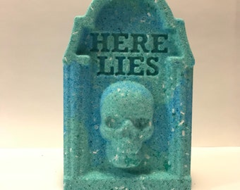 Here Lies Tombstone Bath Bomb | Tombstone | Dark Theme | Death Theme | Dark Themed Bath Bombs | Bath Bomb | Unique Bath Bombs | Colorful
