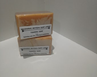TUMERIC SOAP/ handmade/crafted soap/artisan soap/soponified soap/cold process