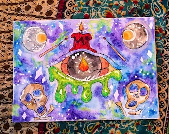 The Eyes Have It Water Color Painting Art