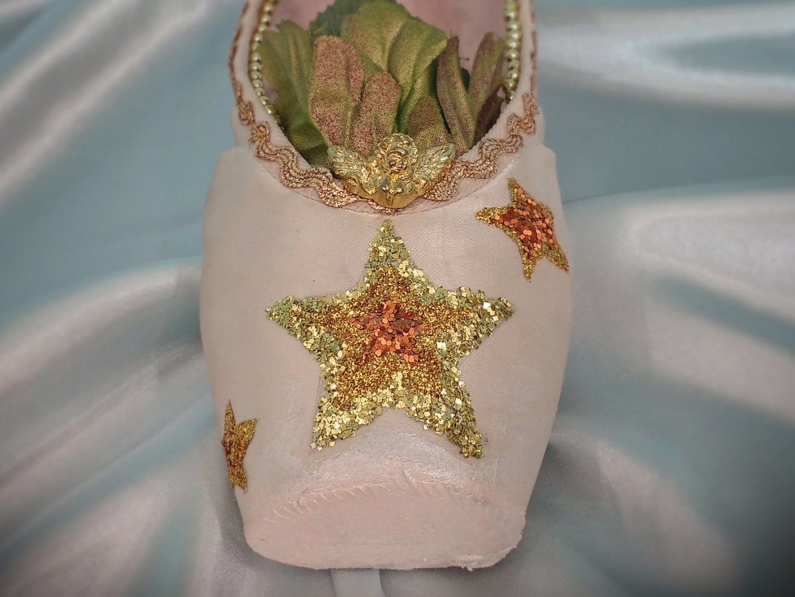 gold star dancer gift, gold ballet gift, unique gift, unique gold gift, goddess of dance glitter star, ballet gift, decorated po