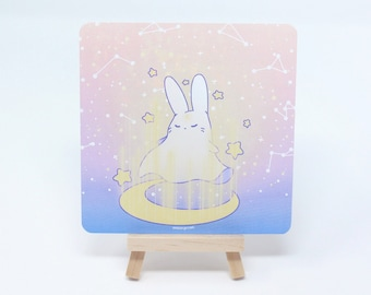 """5"""" Square """"Mahou"""" Witchy Rainbow Magic Print - Kawaii Pastel Fairy Kei Witch Ghost Supernatural Cute Digital Wall Art by Wisconsin Artist"""