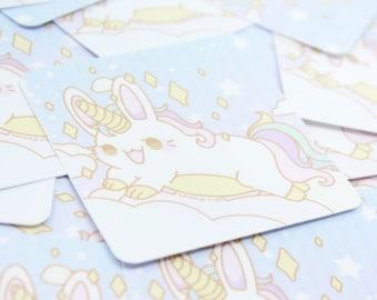 "3"" Bunicorn Vinyl Sticker - Kawaii Cute Unicorn Bunny Pony Rabbit Fairy Kei Usagi Rainbow Anime Stationary Flake Sticker for Laptop Notebook"