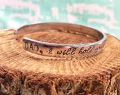 I Will Hold You In My Heart, Until I Can Hold You In Heaven, Memorial Bracelet, Dad Memorial, In Memory Of, Father Memorial, Memorial Jewelr