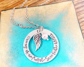 Mommy of an Angel, Miscarriage Gift for Mom, Loss of Baby, Child Loss Gift, Sympathy Gift, for Mom, Memorial Necklace, Bereavement Gift