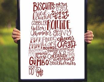 Alabama Roll Tide Print - Custom Digital Print