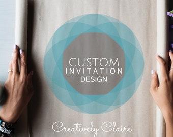 Custom Invitations Design - Handlettered Invitations