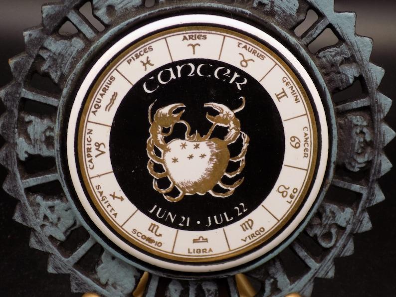 Cancer Sign Vintage Enesco Cast Iron Zodiac Trivet