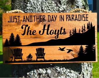 picture regarding Free Printable Camping Signs identify Tenting indications Etsy
