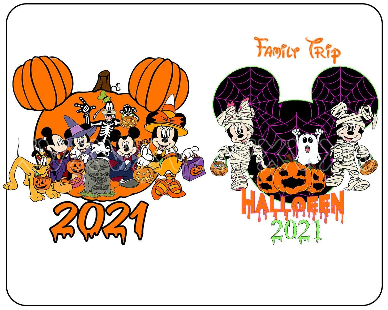Family trip mickey halloween PNG - 2 png - pumpkin - digital download - halloween 2021