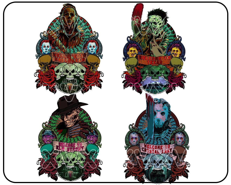 Horror Halloween Bundle Png, Horror Movies, Happy Halloween, Sublimated Printing/INSTANT DOWNLOAD/Png Printable/Digital Print Design.