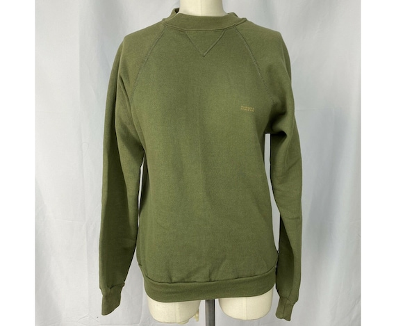 Vintage 1980s Army Green Sweatshirt, Russell Athle
