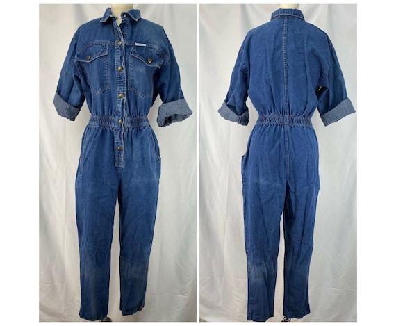 Vintage 1980s Denim Jumpsuit, Ideas Size M/L