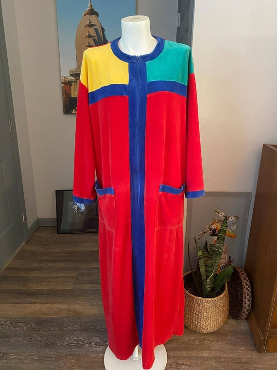 Styled by Saybury Color Block Red Robe Caftan Loun