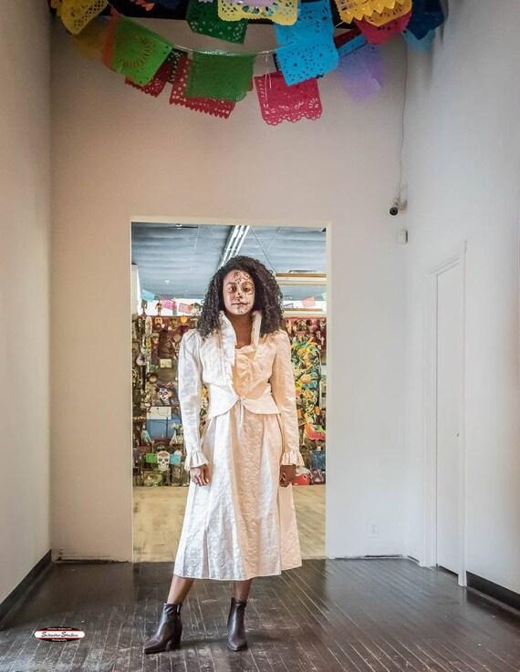 Dress With Jacket Sweetheart Neck Spaghetti Strap