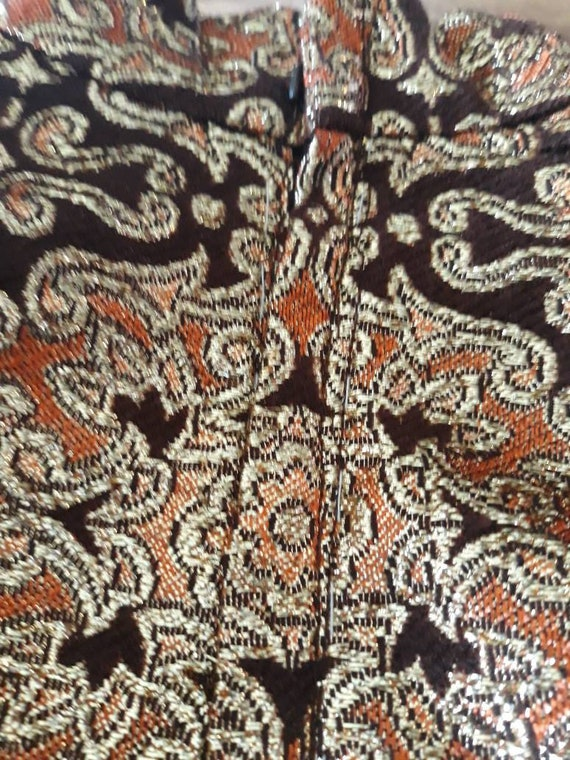 Psychedelic 60s Brocade Pant Suit 2 Piece Tunic S… - image 9