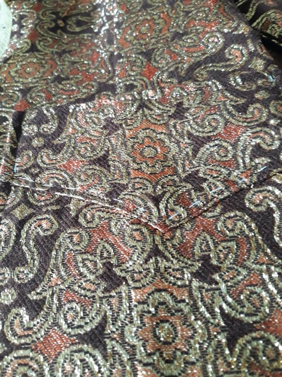 Psychedelic 60s Brocade Pant Suit 2 Piece Tunic S… - image 10
