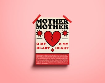 Mother Mother Poster ***7.5x10.5 in
