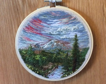 Mountain Landscape Embroidery