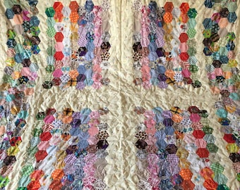 Vintage Liberty of London Patchwork Quilt - A HUGE patchwork quilt from the 1970's era - 260cm x 180cm - fantastic condition