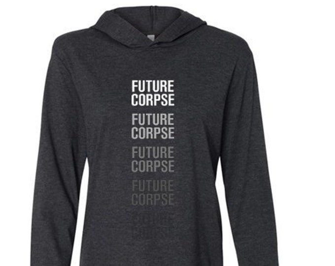 Featured listing image: Future Corpse Unisex Jersey Long Sleeve Hoodie