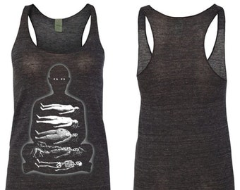 "Women's Racerback Tank ""Corpse Meditation"""