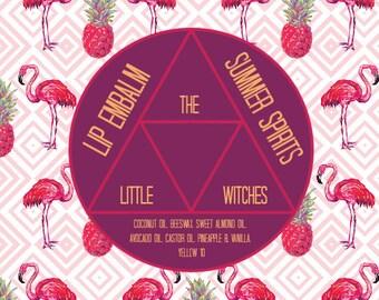"Lip Em'Balm ""Summer Spirits"" Pineapple & Vanilla Lipbalm"