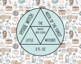 "Hygge Witch ""Nesta of the Forest"" Walnut Scrub"