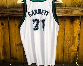 Vintage Champion NBA Jersey Minnesota Timberwolves Kevin Garnett