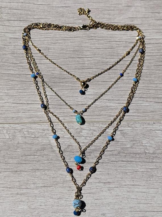 UK BOHO CHUNKY STAR CHARM CHAIN CHOKER NECKLACE Gold Fashion Jewellery Gift
