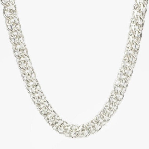 Mens Silver Necklace Mens Chain Necklace Mens Jewelry Heavy Etsy