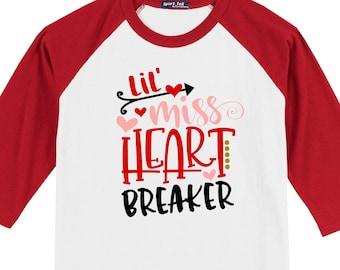 Heart Breaker little boys or girls kids Youth Valentine's   Etsy