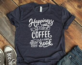 Expression Tees Coffee, Books And Rain Womens T-shirt