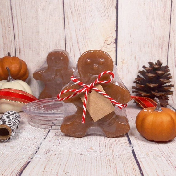 Gingerbread man soap Stocking stuffers Holiday party soap