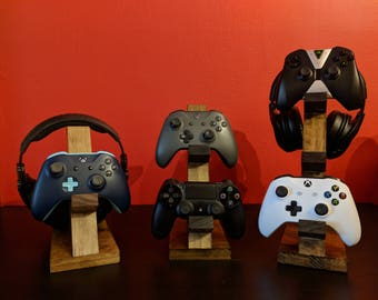 Wooden Controller Stand | Headset Stand