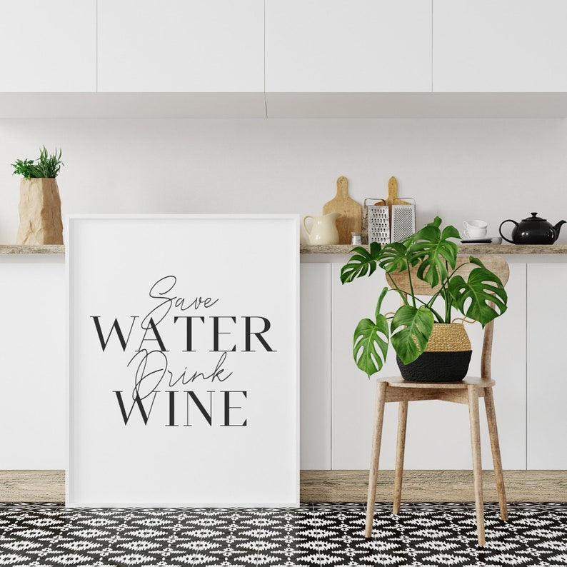 Wine Lover Gift Wine Poster Kitchen Wall Art Kitchen Wine Print Kitchen Gifts Kitchen Wall Decor Funny Wine Quote Kitchen Quote