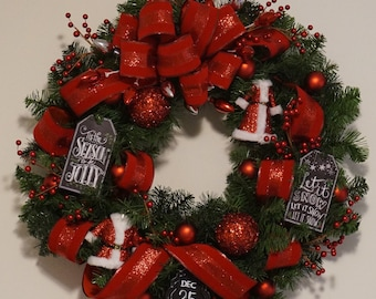 Superieur Red Christmas Wreath