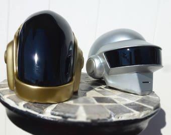 mini duo daft punk helmet guyman and Thomas Bangalter , décoration (not cosplay)
