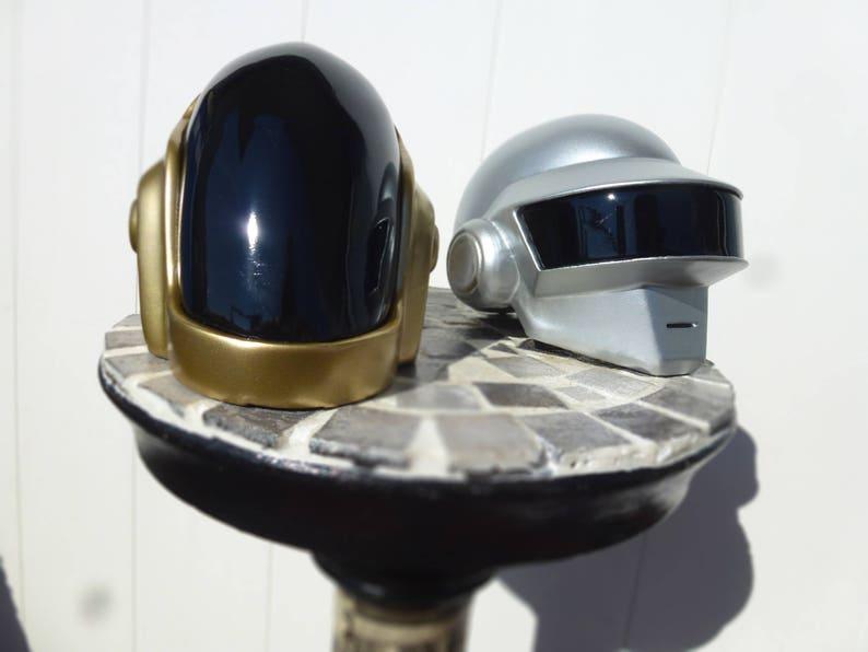 mini duo daft punk helmet guyman and Thomas Bangalter  image 1