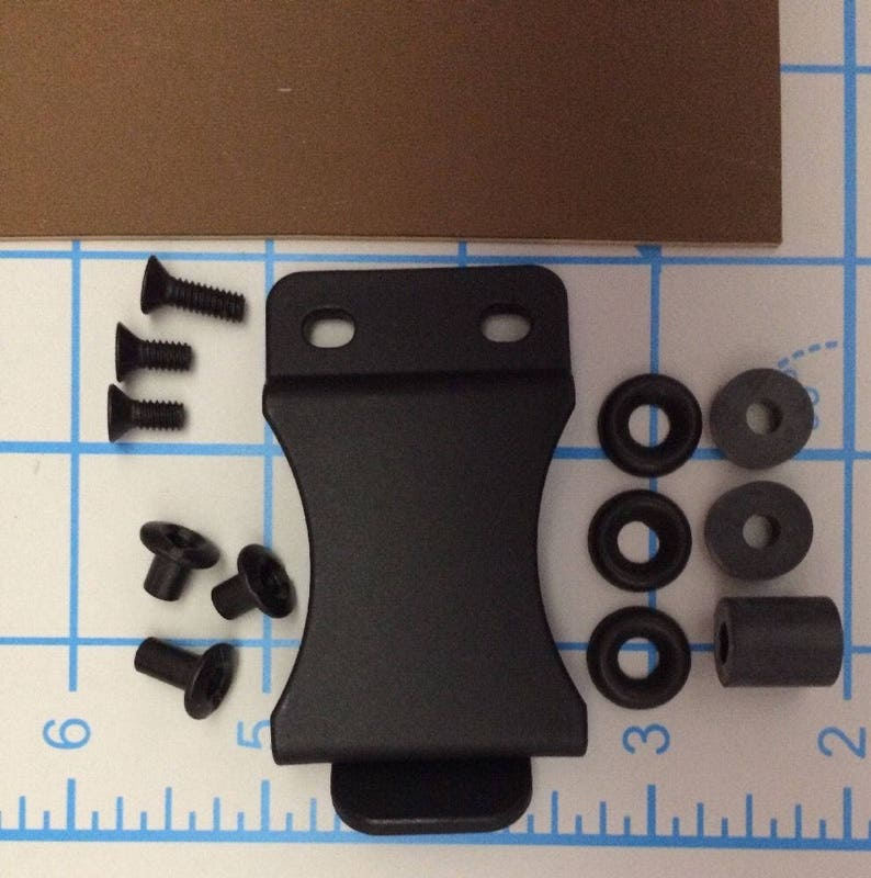 Do It Yourself DIY IWB Holster Kit 1.5 or 1.75 FOMI Belt Clip .080 Coyote Brown or Black Kydex 12X8