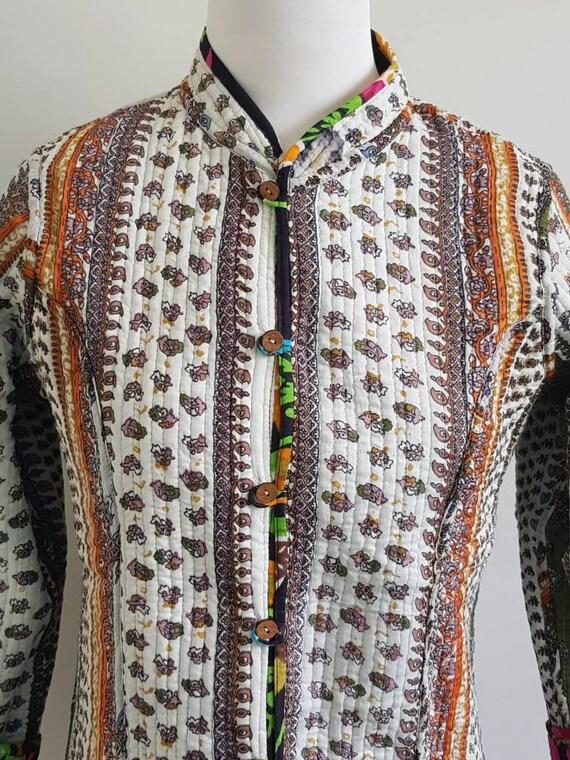 Black jacket M reversable jacket 40 Cotton Quilted Mandarin collar Jacket Soft Indian cotton